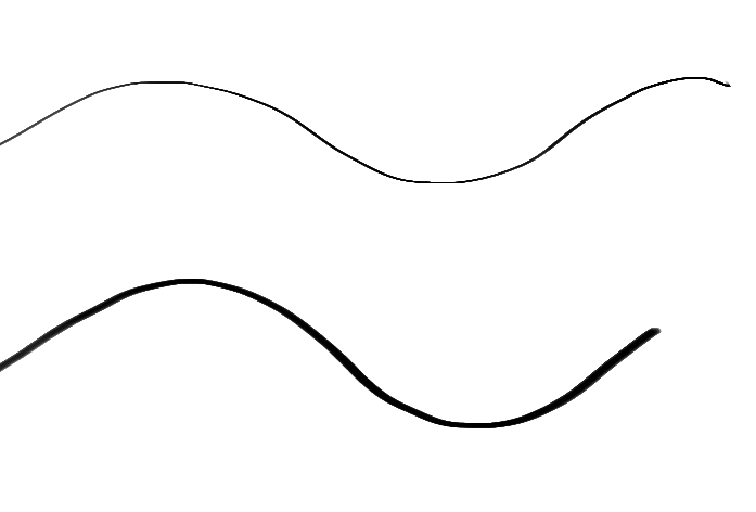 Line Art Brush By Jimro : Jagged and stepped brush strokes make painter impossible