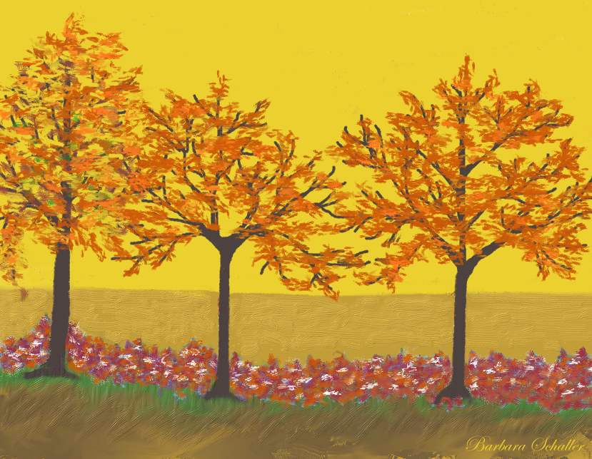 Easy fall paintings images galleries for Fall paintings easy