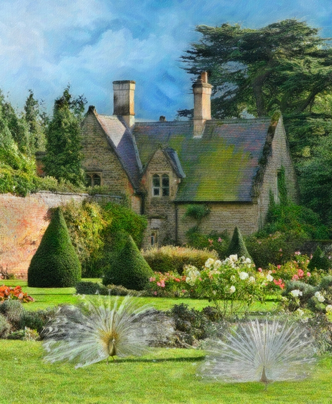 a gardener\'s cottage at newstead abbey - the ancestral home of Lord ...