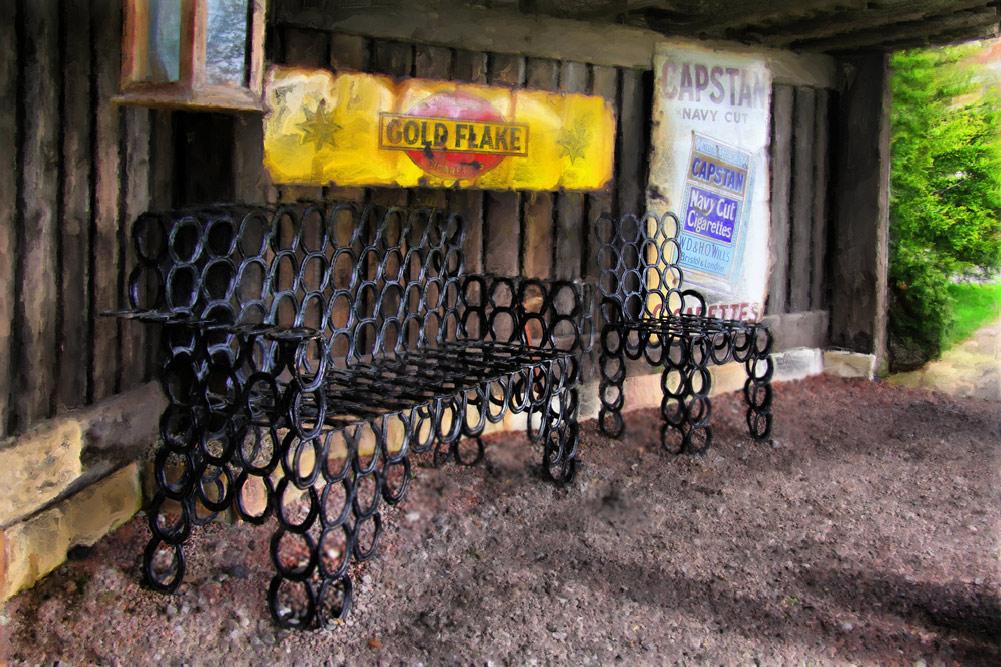 Horseshoe Bench And Chair   Show Your Essentials Creations   Essentials  Café   PainterFactory.com