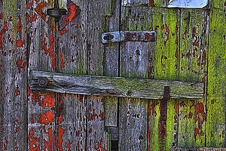 An Old Derelict Barn Door Show Your Essentials Creations