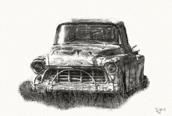 Old Abannonded Truck Pencil Sketch` - Show Your Essentials Creations ...